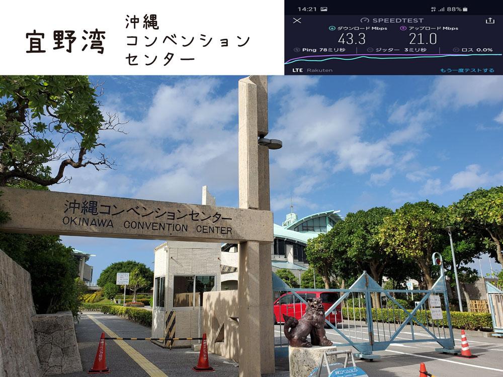 沖縄 楽天モバイル 通信速度 電波 宜野湾