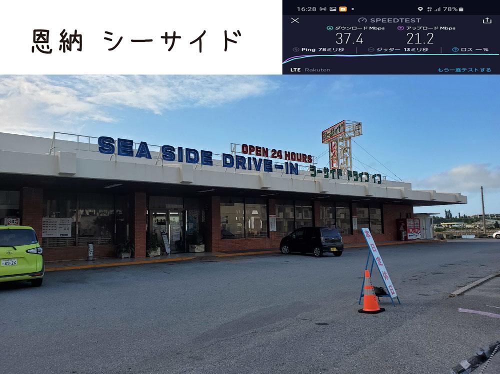 沖縄 楽天モバイル 通信速度 電波 恩納