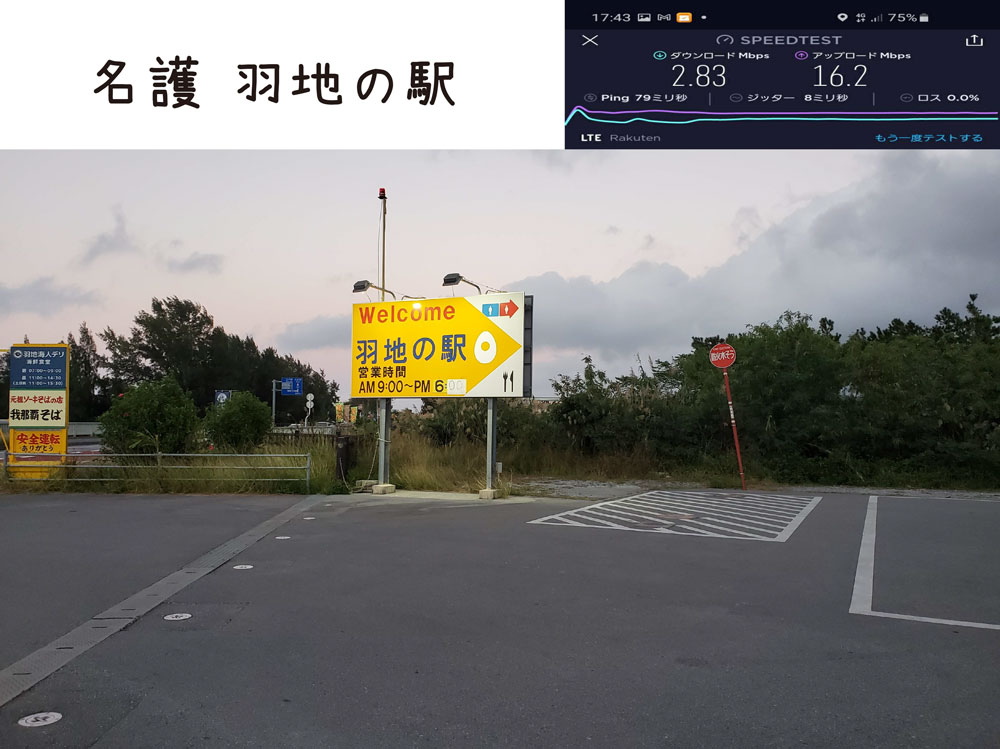 沖縄 楽天モバイル 通信速度 電波 北部