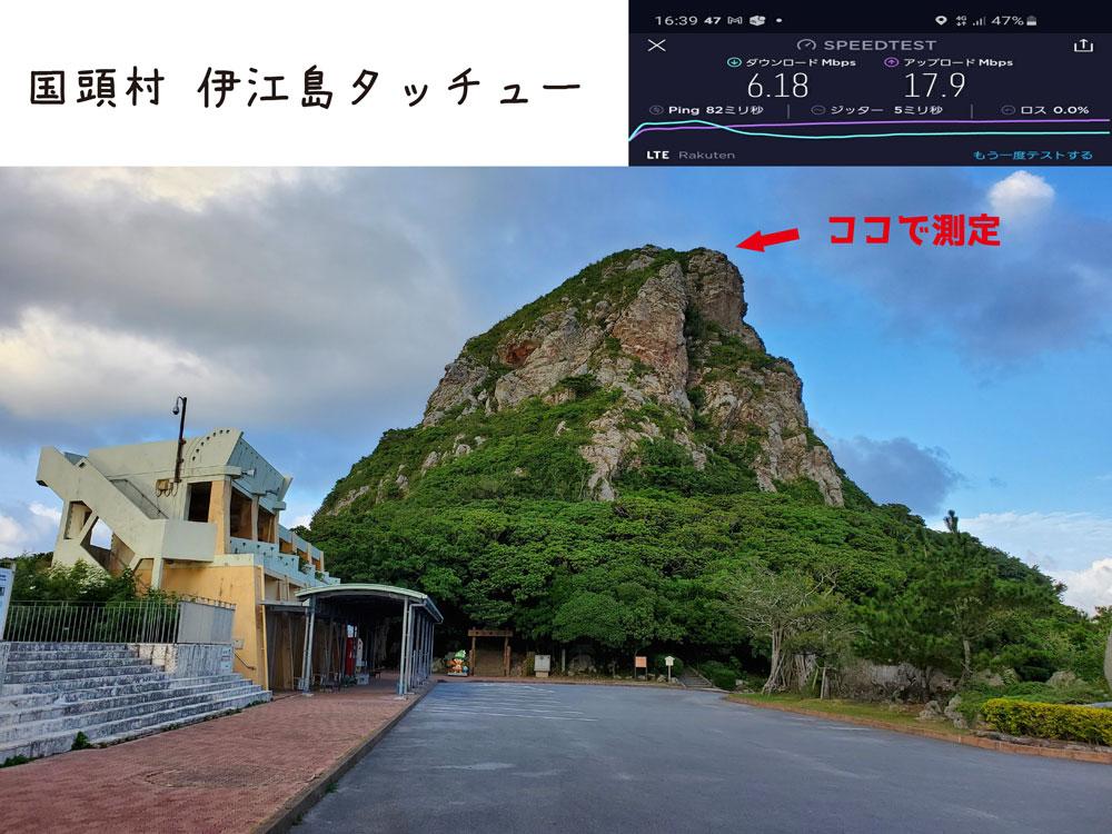 沖縄 楽天モバイル 通信速度 電波 伊江島