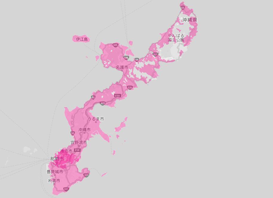 楽天モバイル 沖縄 電波 エリア